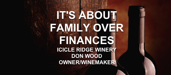 DON WOOD Icicle Ridge Wine Steve Gandara Excellent Cultures