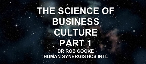Dr Rob Cooke Human Synergistics Excellent Business Culture