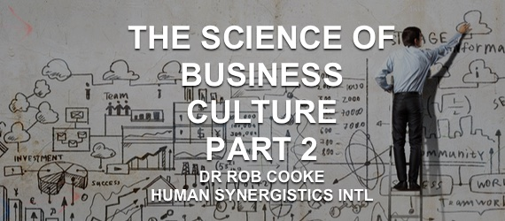 Dr Rob Cooke - Human Synergistics - Excellent Culture