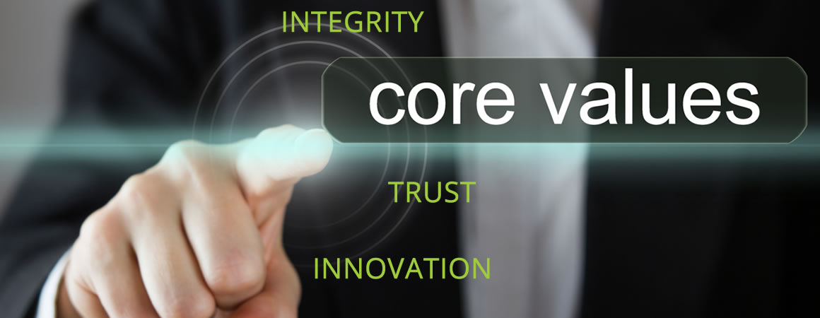 Core Values, Integrity, Trust, Innovation